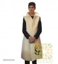 Long felted silk sleeveless overcoat for export