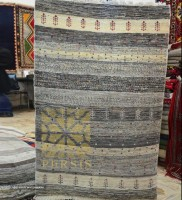 Natural colored Gabbeh rug ( Moharramat design)