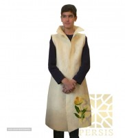 Long felted silk sleeveless overcoat for export