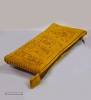 Rectangular Leather Pencil Case for Export