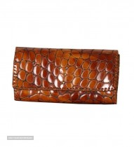 three fold leather wallet for women