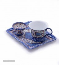 Enameled tea set