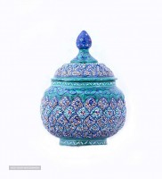 Enameled sugar pot for export
