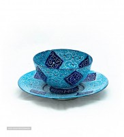 enameled bowl and plate for export