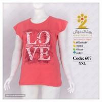 تاپ تیشرت پنبه LOVE ویژه صادرات