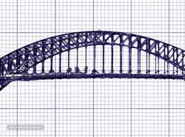 Steel bridges and electric and cellular masts